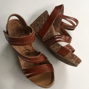 EUC Blowfish wedge sandals